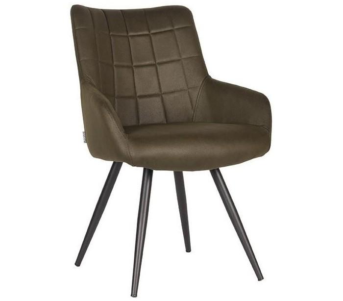 Must spisebordsstol i microfiber h85 cm - vintage armygrøn fra label51 på lepong.dk
