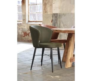 Wave spisebordsstol i microfiber H85 cm - Vintage armygrøn