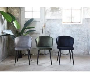 Wave spisebordsstol i velour H85 cm - Grå