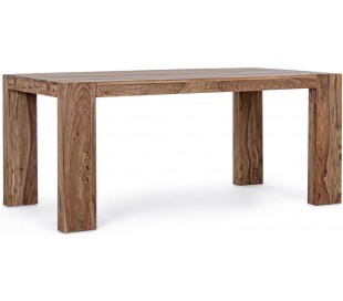 Spisebord med udtræk H76 x B175-265 x D90 cm - Naturbrun
