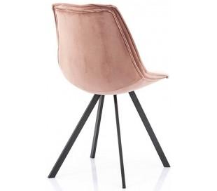 Belle spisebordsstol i velour og metal H87 cm - Pink