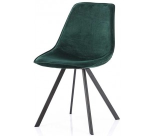 Belle spisebordsstol i velour og metal H87 cm - Grøn