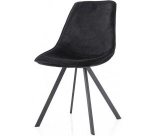 Belle spisebordsstol i velour og metal H87 cm - Sort