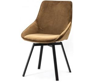 Beau spisebordsstol i velour og metal H87 cm - Okker