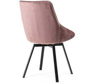 Beau spisebordsstol i velour og metal H87 cm - Pink