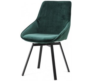 Beau spisebordsstol i velour og metal H87 cm - Grøn