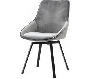 Beau spisebordsstol i velour og metal H87 cm - Grå