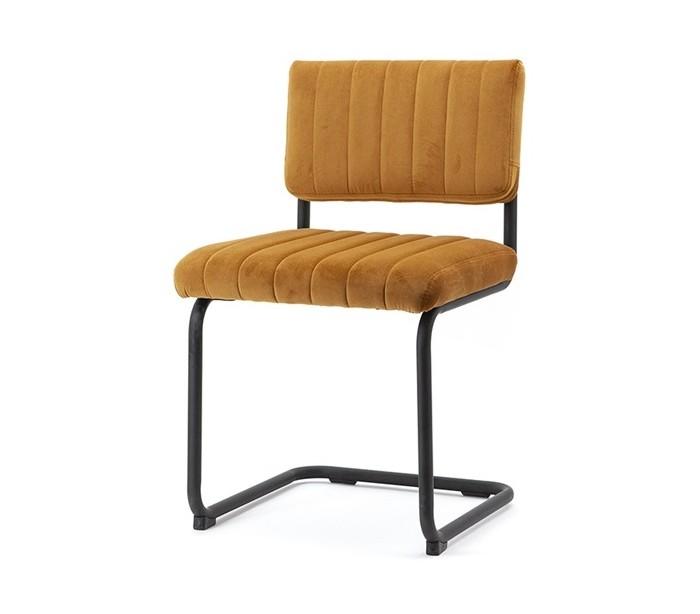 Spisebordsstol i velour og metal H83 cm – Okker fra By Boo